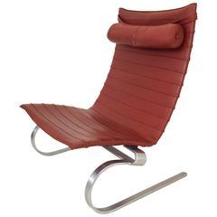 PK-20 Leather Lounge Chair by Poul Kjærholm