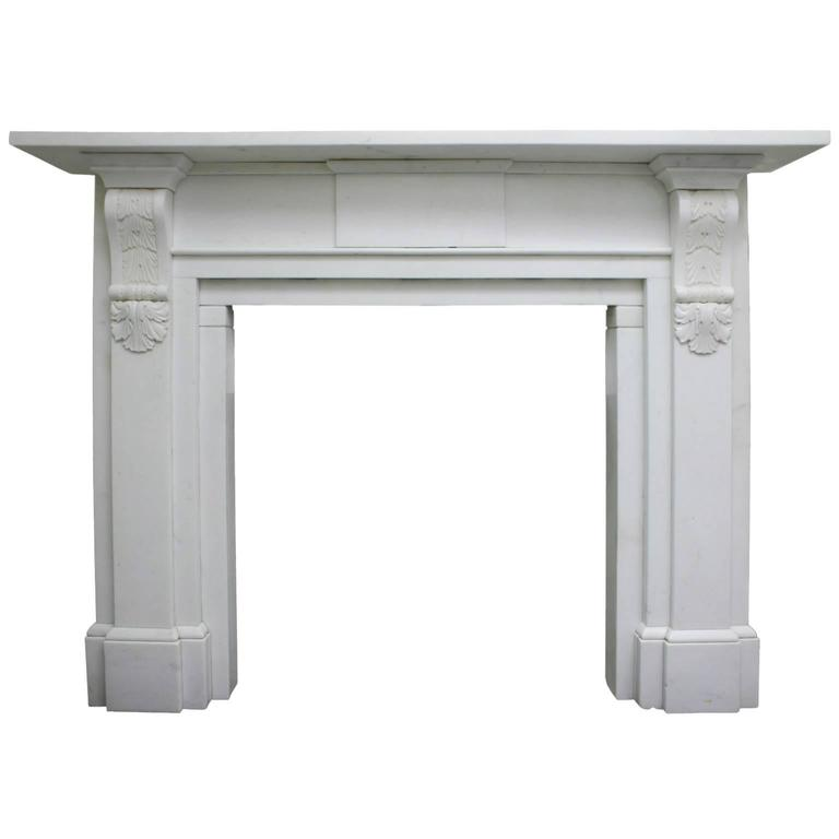 Early Victorian Palladian Statuary Marble Chimneypiece