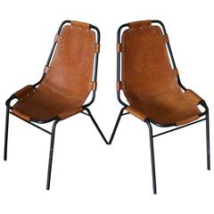 Vintage Pair of Chairs by Charlotte Perriand for Les Arcs