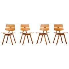 Set aus vier Stühlen von Willy Guhl