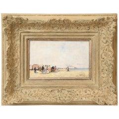 """Francois Gall Painting """"Scène de Plage à Trouville"""""""