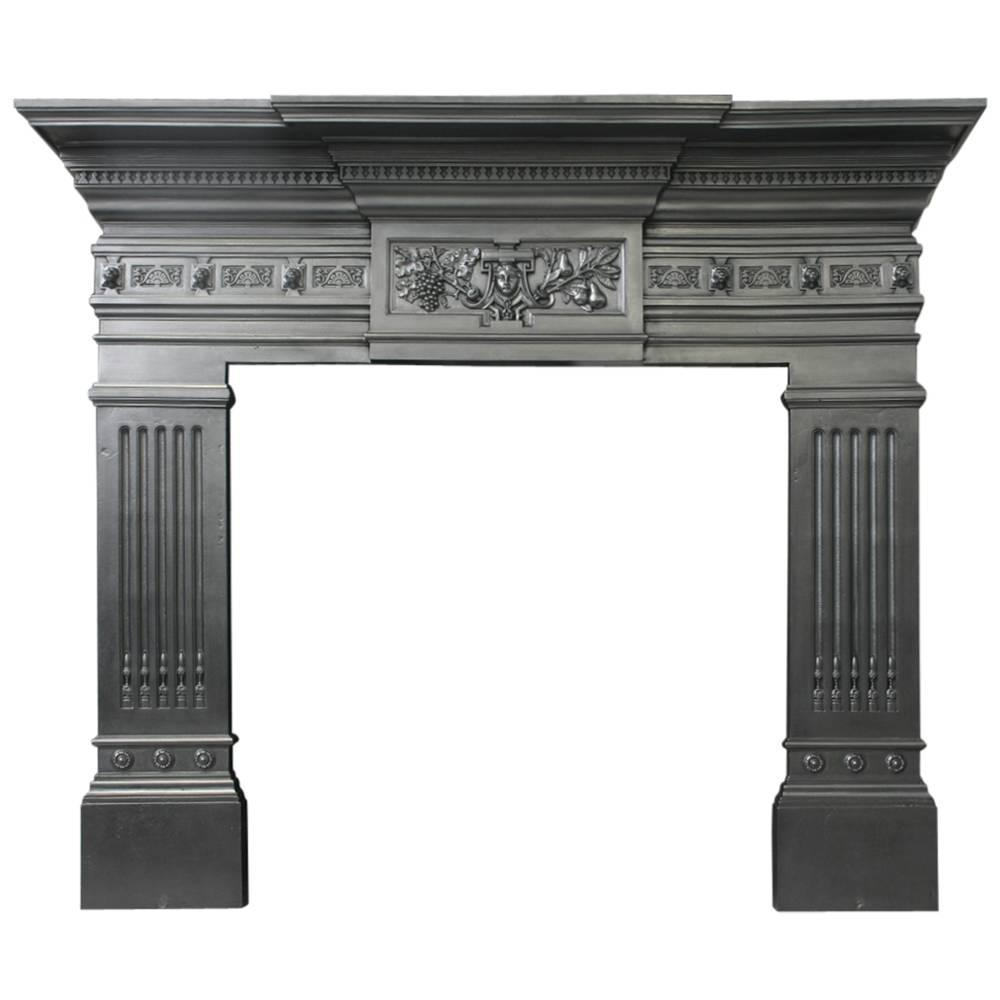 19th Century Victorian Cast Iron Mantel For Sale At 1stdibs