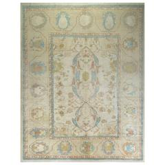 Turkish Oushak Rug in Soft Colors