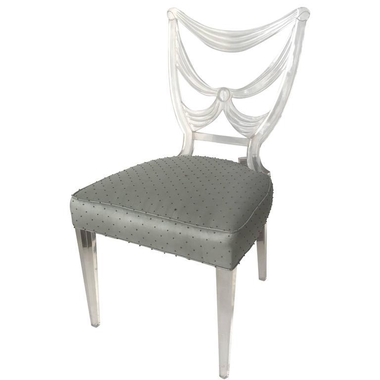 Rare Lucite Chair by Lorin Jackson for Grosfeld House, circa 1939