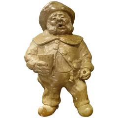 Antique Dutch Drunkard Salt Glazed Figure