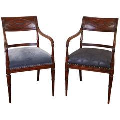 Fine Pair of Regency Style Armchairs