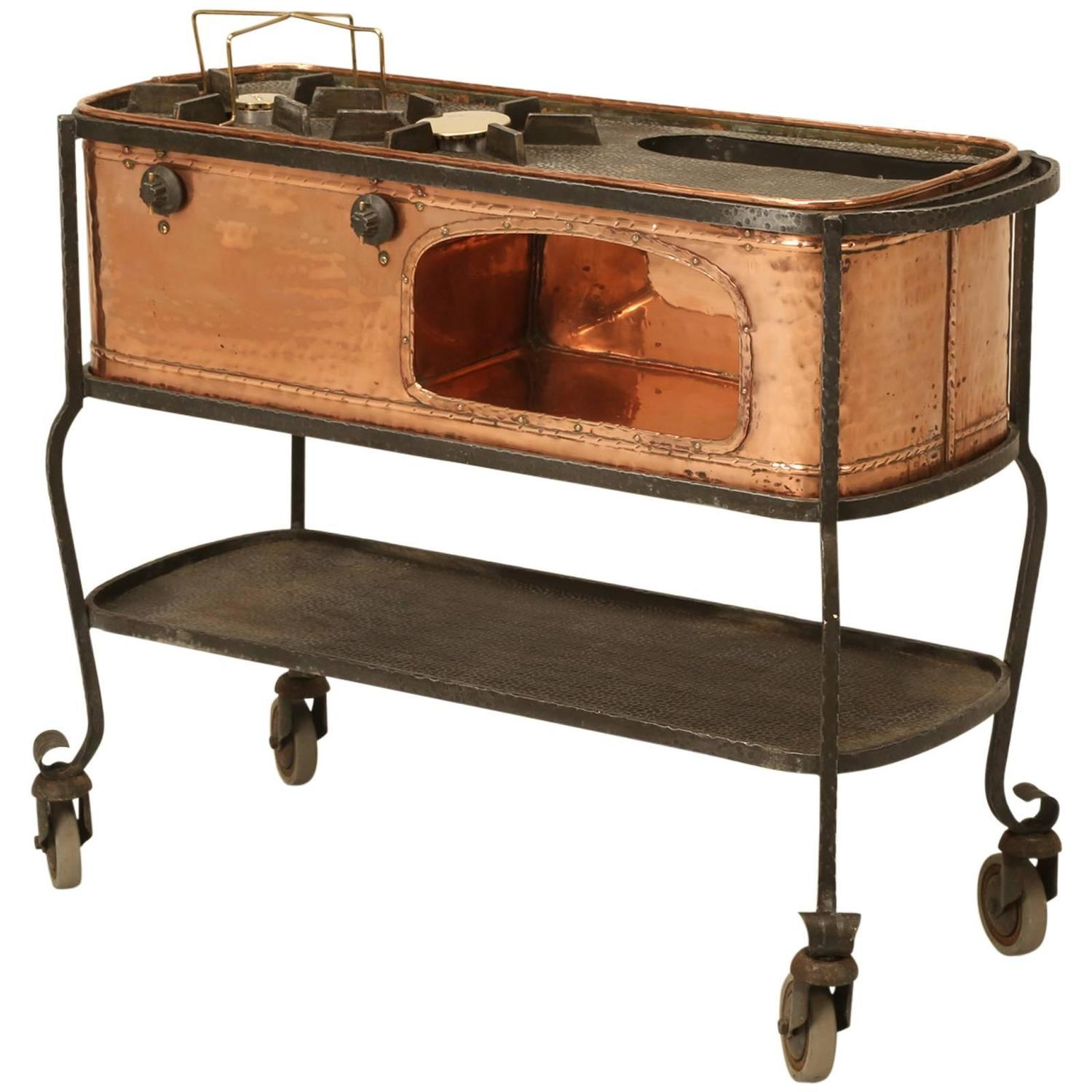 Parisian dessert cooker kitchen island or vanity for sale at 1stdibs - Industrial kitchen island for sale ...