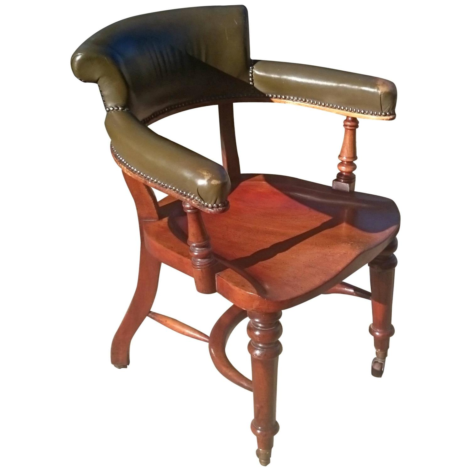 Antique club chair or captains chair for sale at 1stdibs