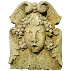 Decorative French Cast Stone Sculpture or Fountain Spout