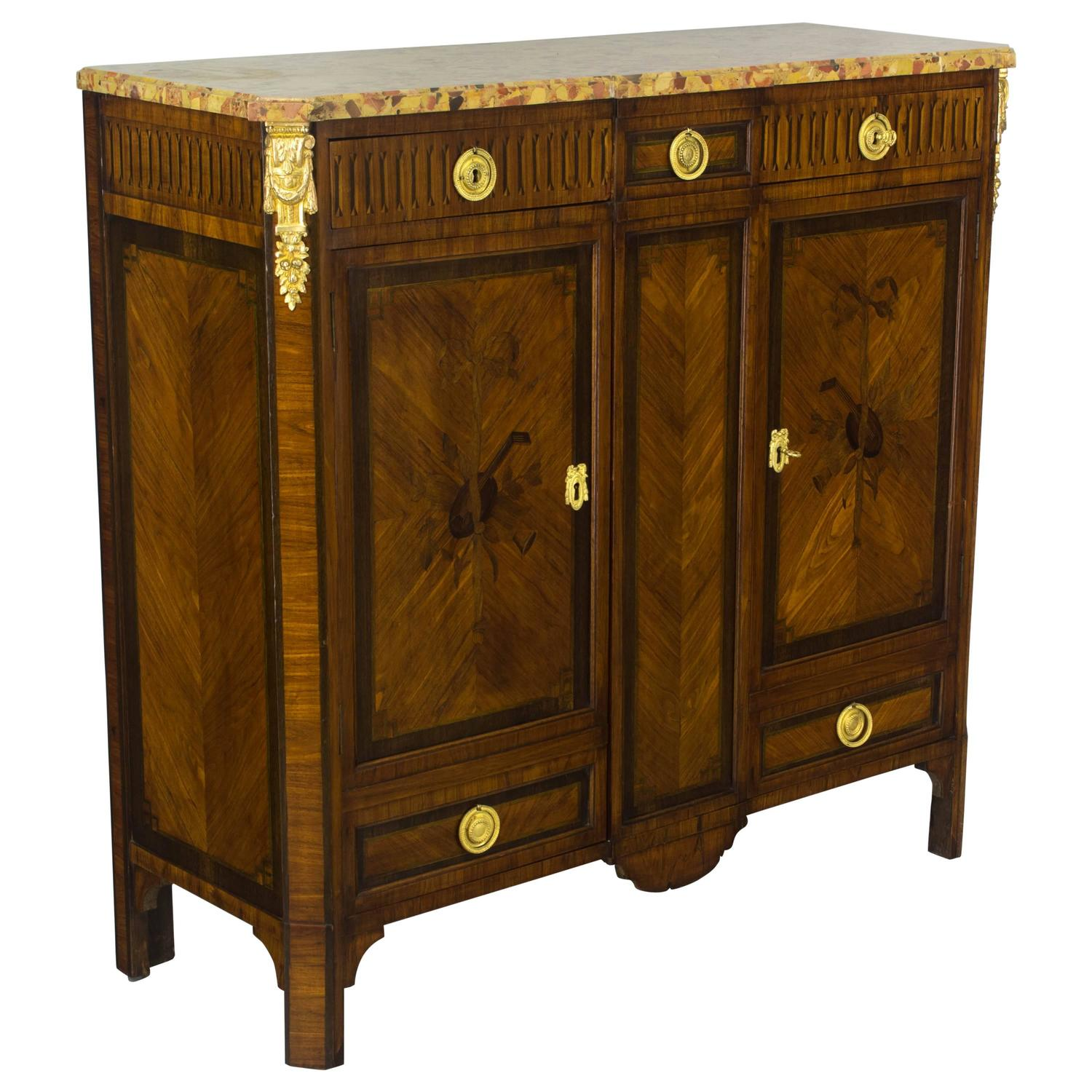 19th century louis xvi style marquetry buffet for sale at 1stdibs. Black Bedroom Furniture Sets. Home Design Ideas