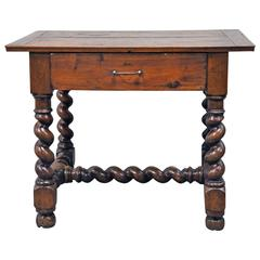 19th Century French Louis XIII Style Table in Walnut