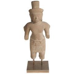 Khmer Stone Statue Ardhanarishvara