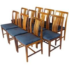 Ten Fine Linde Nilsson Rosewood Modern Dining Chairs, Sweden