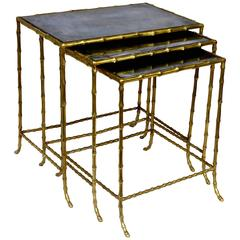 Bagues Nesting Tables of Faux Bamboo