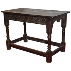 Jacobean-Revival Stained Oak Center Table