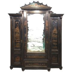 19th Century Lacquered Chinoiserie Bookcase