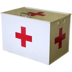 Re-Painted 'First Aid' Tin Box