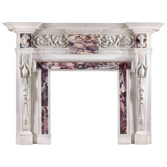 Antique Palladian Style Chimneypiece in the Manner of William Kent
