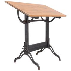 Old American Industrial Drafting Table