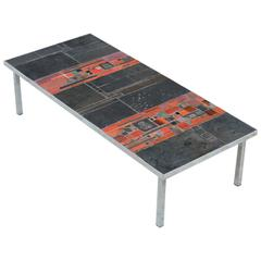 Large Pia Manu Tile Coffee Table, 1960s