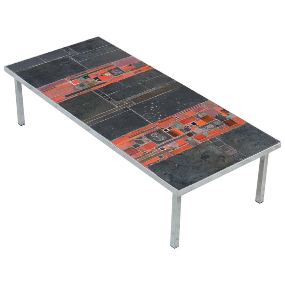 Large Pia Manu Tile Coffee Table 1960s For Sale At 1stdibs
