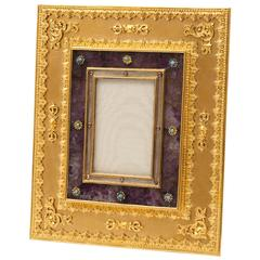 French Ormolu, Blue John and Turquoise Photo Frame, circa 1890