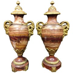 Pair of 19th Century Marble Vases