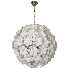 Wonderful Murano Glass Flowers Chandelier