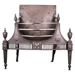 18th Century Cast and Wrought Iron Fireplace Fire Grate