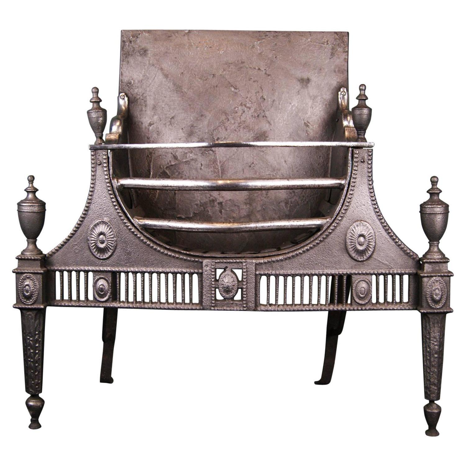18th Century Cast And Wrought Iron Fireplace Fire Grate For Sale At 1stdibs