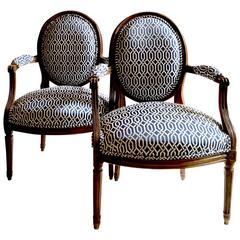 18th Century Louis XVI Period Armchairs