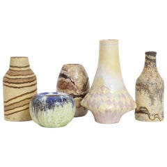 Marcello Fantoni Small Ceramic Vases, circa 1960s - 1970s