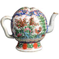 19th Century Famille Rose Cadogan Tea Pot