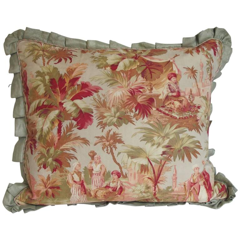19th Century French Fabric Pillow by Mary Jane McCarty For Sale
