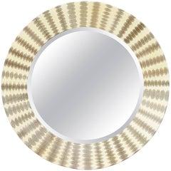 Snake Skin Round Mirror by Fabio Ltd
