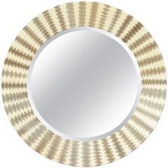 Italian Snake Skin Round Mirror