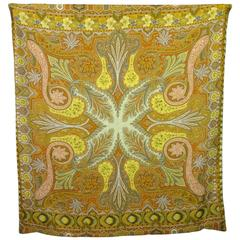 Late 20th Century Cashmere-Lined Silk Throw
