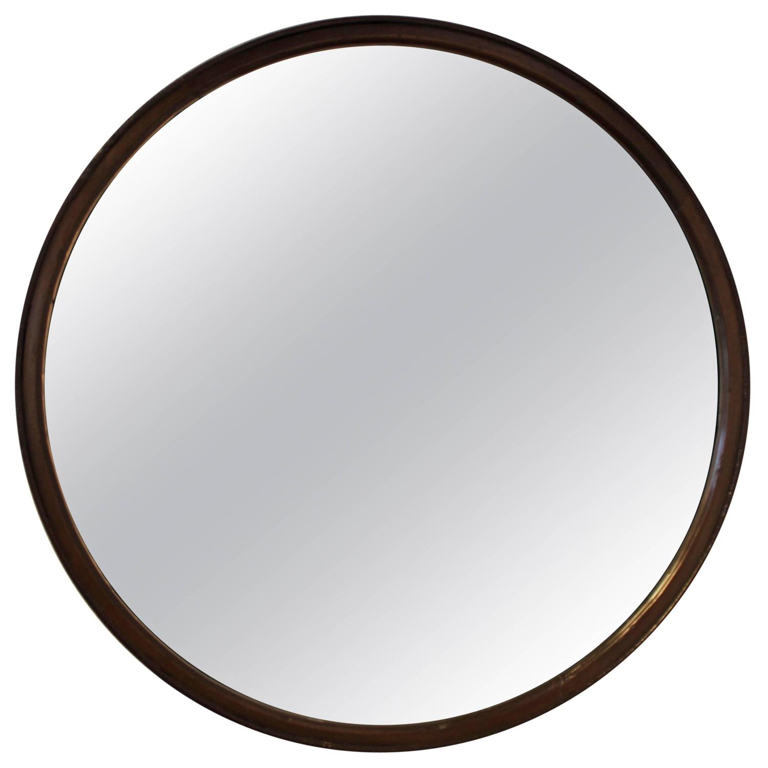 Industrial Wheel Round Mirror For Sale At 1stdibs