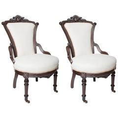 Pair of Petite Victorian Chairs