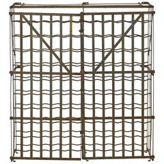 French Industrial Rigidex Dispose 100 Bottle Vintage Wine Rack, Mid-20th Century