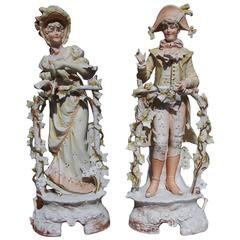 Pair of French Bisque Standing Figurines, Circa 1880