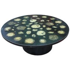 Stunning Ado Chale Attributed Agate and Resin Coffee Table