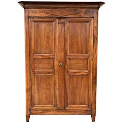 French Directoire Period Walnut Armoire