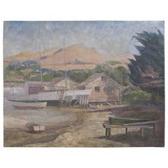 Tiburon Boat Yard Painting by James Welsh Elliott