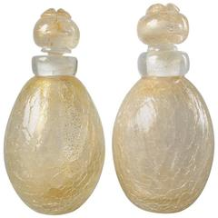 Pair of Mid-Century Murano Glass Perfume Bottles