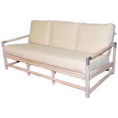 Mid-Century Ficks Reed Bamboo Sofa