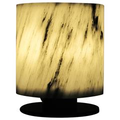 Round Table Lamp in Marble
