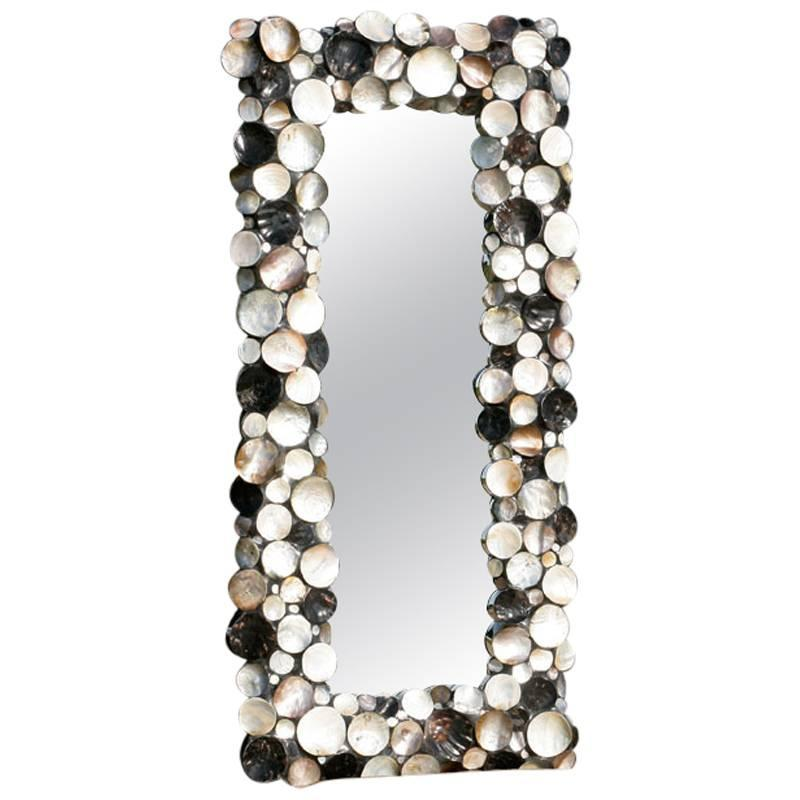Stunning Full Height Mother Of Pearl Mirror For Sale At
