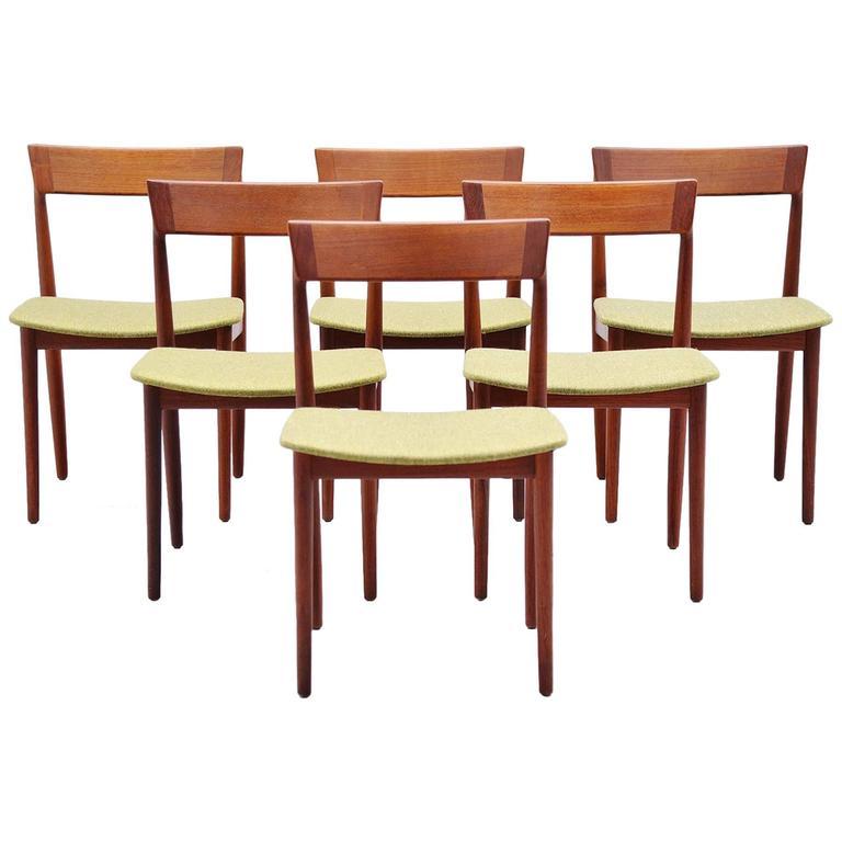 Henry Rosengren Hansen Dining Chairs, Denmark, 1960