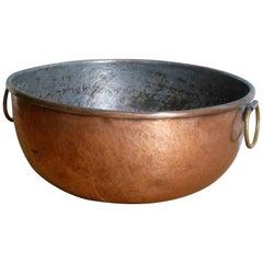 19th Century Copper Jam Bowl